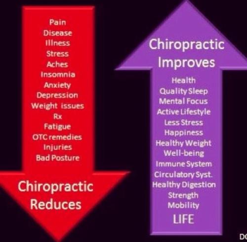 chiropractic reduces vs stimulates